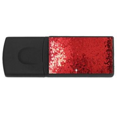 Sequin And Glitter Red Bling 4gb Usb Flash Drive (rectangle) by artattack4all