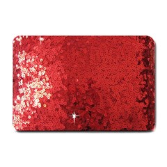 Sequin And Glitter Red Bling Small Door Mat