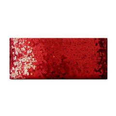 Sequin And Glitter Red Bling Hand Towel by artattack4all