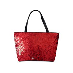 Sequin And Glitter Red Bling Large Shoulder Bag by artattack4all