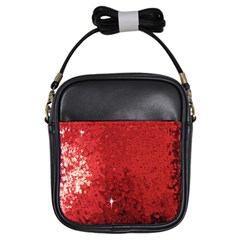 Sequin And Glitter Red Bling Kids  Sling Bag by artattack4all