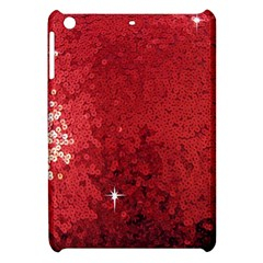 Sequin And Glitter Red Bling Apple Ipad Mini Hardshell Case by artattack4all