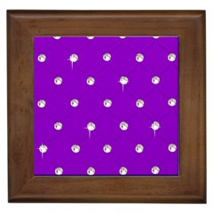 Royal Purple And Silver Bead Bling Framed Ceramic Tile by artattack4all