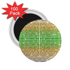 Diamond Cluster Color Bling 100 Pack Regular Magnet (round) by artattack4all