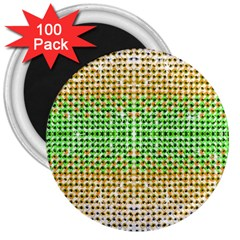 Diamond Cluster Color Bling 100 Pack Large Magnet (round) by artattack4all