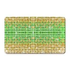 Diamond Cluster Color Bling Large Sticker Magnet (rectangle) by artattack4all