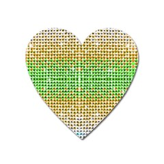 Diamond Cluster Color Bling Large Sticker Magnet (heart)
