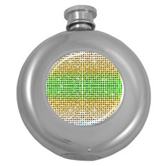 Diamond Cluster Color Bling Hip Flask (round) by artattack4all