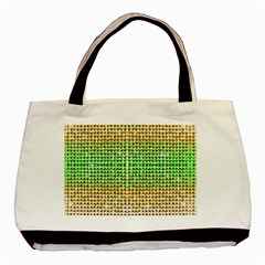 Diamond Cluster Color Bling Twin Sided Black Tote Bag by artattack4all