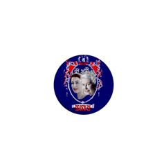 Queen Elizabeth 2012 Jubilee Year Mini Magnet (round) by artattack4all