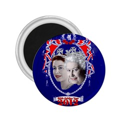Queen Elizabeth 2012 Jubilee Year Regular Magnet (round) by artattack4all
