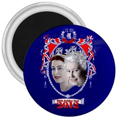 Queen Elizabeth 2012 Jubilee Year Large Magnet (round) by artattack4all