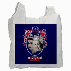 Queen Elizabeth 2012 Jubilee Year Single Sided Reusable Shopping Bag by artattack4all