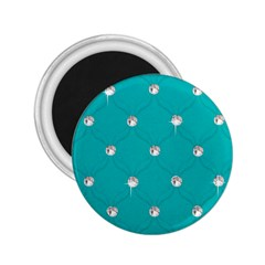 Turquoise Diamond Bling Regular Magnet (round)
