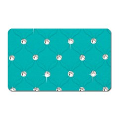 Turquoise Diamond Bling Large Sticker Magnet (rectangle) by artattack4all