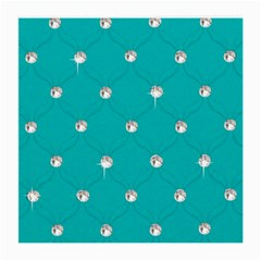 Turquoise Diamond Bling Single-sided Large Glasses Cleaning Cloth by artattack4all