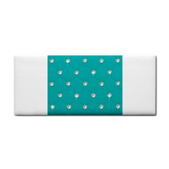 Turquoise Diamond Bling Hand Towel