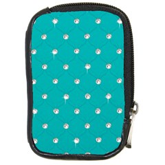 Turquoise Diamond Bling Digital Camera Case by artattack4all