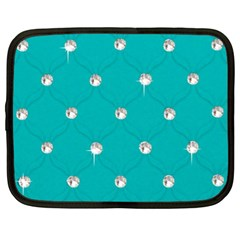 Turquoise Diamond Bling 13  Netbook Case by artattack4all
