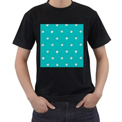 Turquoise Diamond Bling Black Mens'' T Shirt by artattack4all