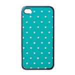 Turquoise Diamond Bling Black Apple iPhone 4 Case Front