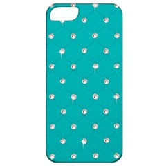 Turquoise Diamond Bling Apple Iphone 5 Classic Hardshell Case by artattack4all
