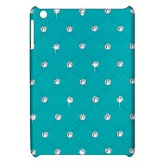 Turquoise Diamond Bling Apple Ipad Mini Hardshell Case by artattack4all