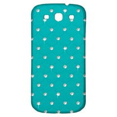 Turquoise Diamond Bling Samsung Galaxy S3 S Iii Classic Hardshell Back Case by artattack4all
