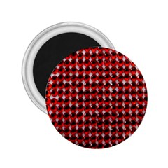 Deep Red Sparkle Bling Regular Magnet (round) by artattack4all