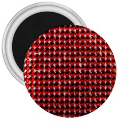 Deep Red Sparkle Bling Large Magnet (round) by artattack4all