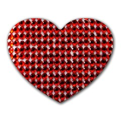 Deep Red Sparkle Bling Mouse Pad (heart) by artattack4all