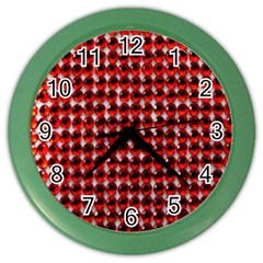 Deep Red Sparkle Bling Colored Wall Clock