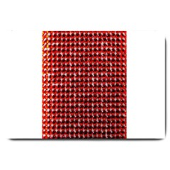 Deep Red Sparkle Bling Large Door Mat