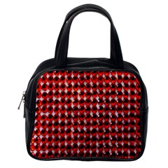Deep Red Sparkle Bling Single Sided Satchel Handbag by artattack4all