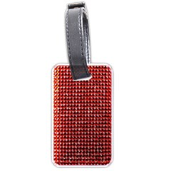 Deep Red Sparkle Bling Single Sided Luggage Tag by artattack4all
