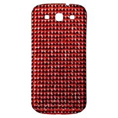 Deep Red Sparkle Bling Samsung Galaxy S3 S Iii Classic Hardshell Back Case by artattack4all