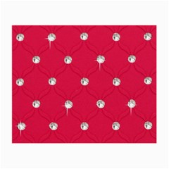 Red Diamond Bling  Twin Sided Glasses Cleaning Cloth by artattack4all