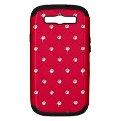 Red Diamond Bling  Samsung Galaxy S Iii Hardshell Case (pc+silicone) by artattack4all
