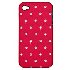 Red Diamond Bling  Apple Iphone 4/4s Hardshell Case (pc+silicone)
