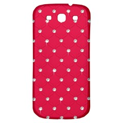Red Diamond Bling  Samsung Galaxy S3 S Iii Classic Hardshell Back Case by artattack4all