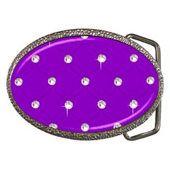 Royal Purple Sparkle Bling Belt Buckle (oval) by artattack4all