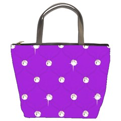 Royal Purple Sparkle Bling Bucket Handbag by artattack4all