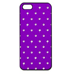 Royal Purple Sparkle Bling Apple Iphone 5 Seamless Case (black) by artattack4all