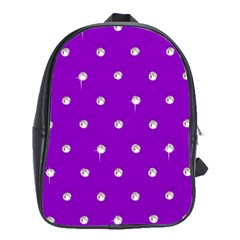 Royal Purple Sparkle Bling School Bag (xl) by artattack4all