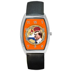 King Willem Alexander Black Leather Watch (tonneau) by artattack4all