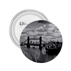 River Thames Waterfall Regular Button (round) by Londonimages