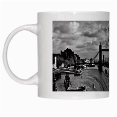 River Thames Waterfall White Coffee Mug by Londonimages