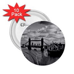 River Thames Waterfall 10 Pack Regular Button (round) by Londonimages