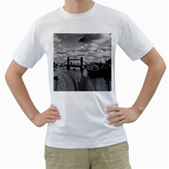 River Thames Waterfall White Mens  T Shirt by Londonimages