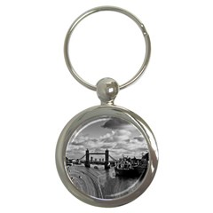 River Thames Waterfall Key Chain (round) by Londonimages